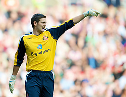 SUNDERLAND, ENGLAND - Saturday, August 16, 2008: Sunderland's goalkeeper Craig Gordon during the opening Premiership match of the season against Liverpool at the Stadium of Light. (Photo by David Rawcliffe/Propaganda)