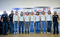 Women Slovenian Alpine Ski Team before new season 2008/2009, on Septembra 25, 2008, Ljubljana, Slovenia. (Photo by Vid Ponikvar / Sportal Images)