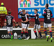 Dundee&rsquo;s Mark O&rsquo;Hara is congraulated after opening the scoring - Motherwell v Dundee, Fir Park, Motherwell, Photo: David Young<br /> <br />  - &copy; David Young - www.davidyoungphoto.co.uk - email: davidyoungphoto@gmail.com