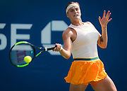 Aryna Sabalenka of Belarus in action during the first round of the 2018 US Open Grand Slam tennis tournament, at Billie Jean King National Tennis Center in Flushing Meadow, New York, USA, August 28th 2018, Photo Rob Prange / SpainProSportsImages / DPPI / ProSportsImages / DPPI