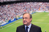 Real Madrid´s President Florentino Perez during James Rodriguez´s official presentation as a new Real Madrid player at the Santiago Bernabeu stadium in Madrid, Spain. July 22, 2013. (ALTERPHOTOS/Victor Blanco)