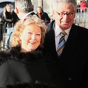 NLD/Amsterdam/20080201 - Verjaardagsfeest Koninging Beatrix en prinses Margriet, Ed van Thijn en partner Odette Taminau