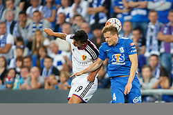 29.07.2015, INEA Stadion, Poznan, POL, UEFA CL, Lech Poznan vs FC Basel, Qualifikation, 3. Runde, Hinspiel, im Bild BEHRANG SAFARI, TOMASZ KEDZIORA // during the UEFA Champions League Qualifier, third round, first Leg match between Lech Posen and FC Basel at the INEA Stadion in Poznan, Poland on 2015/07/29. EXPA Pictures © 2015, PhotoCredit: EXPA/ Newspix/ Radoslaw Jozwiak<br /> <br /> *****ATTENTION - for AUT, SLO, CRO, SRB, BIH, MAZ, TUR, SUI, SWE only*****
