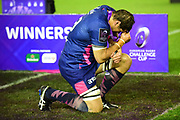 Laurent Panis is emotional after winning the European Rugby Challenge Cup match between Gloucester Rugby and Stade Francais at BT Murrayfield, Edinburgh, Scotland on 12 May 2017. Photo by Kevin Murray.
