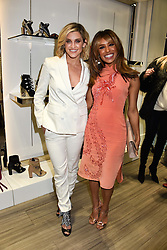 Left to right, Pussycat Dolls Ashley Roberts and Melody Thornton at a party to launch Ashley Robert's new footwear range Allyn held ay Larizia, 74 St.John's Wood High Street, London England. 8 February 2017.