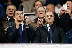 Tottenham Hotspur chairman Daniel Levy (R) looks on from the stand before the game - Photo mandatory by-line: Rogan Thomson/JMP - 07966 386802 - 30/11/2014 - SPORT - FOOTBALL - London, England - White Hart Lane - Tottenham Hotspur v Everton - Barclays Premier League.