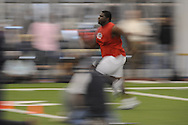 Mississippi football player Mark Jean-Louis at Pro Day in the IPF in Oxford, Miss. on Tuesday, March 23, 2010.