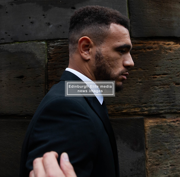 Mason Bennent and Tom Lawrence leave Derbyshire Magistrates Court after being charged with Drink Driving