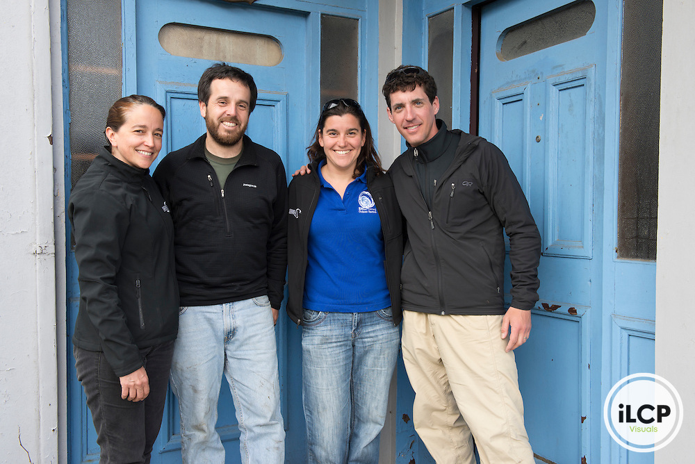 The team: Elsa Cabrera (CCC), Jorge Valenzuela (CECPAN), Barbara Galletti (CCC), and Chris Linder.