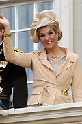 Prinsjesdag 2007 in The Hague. <br /> <br /> On the Photo:  Maxima  at the &quot;balcony Scene&quot;