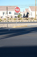 Do not enter and one way signs on Boulder Highway in Las Vegas Nevada