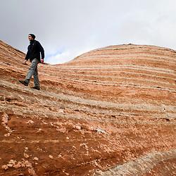Slickrock Scramble at Red Rock Park, New Mexico..