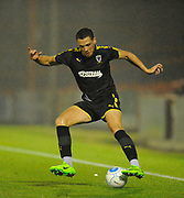 Seth Owens (31) of AFC Wimbledon during the Pre-Season Friendly match between Aldershot Town and AFC Wimbledon at the EBB Stadium, Aldershot, England on 28 July 2017. Photo by Graham Hunt.