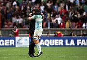 Argentina celebrate victory. Ireland v Argentina, Parc Des Princes, Paris, France, 30th September 2007. Rugby World Cup 2007. ..
