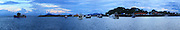Vista Panorámica de barcos y  yates desde el Causeway.