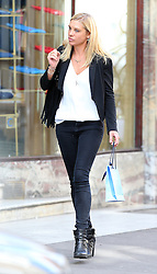 Prince Harry's ex-girlfriend Chelsy Davy wearing a short black jacket, white top, skinny jeans and buckle ankle boots was spotted enjoying lunch with friends at Chucs Restaurant & Café in Mayfair. The stunning Zimbabwean national has recently been in Zambia doing research for her forthcoming jewellery line, Aya Africa. London, UK. 05/04/2016 <br /> BYLINE MUST READ : JAMESY/GOTCHA IMAGES<br /> <br /> Copyright by © Gotcha Images Ltd. All rights reserved.<br /> Usage of this image is conditional upon the acceptance <br /> of Gotcha Images Ltd, terms and conditions available at<br /> www.gotchaimages.com