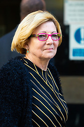 Joan Martino, 69, leaves the Old Bailey in London where she is facing charges of causing death by careless driving. London, April 01 2019.