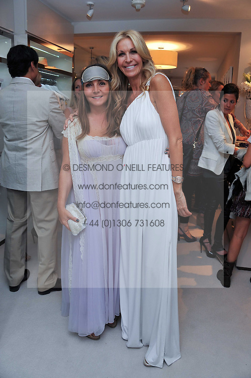 Left to right, VASSI CHAMBERLAIN and MELISSA ODABASH at the opening of the new Melissa Odabash store in Walton Street, London SW3 on 7th July 2011.