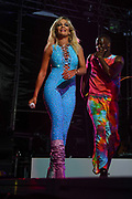 Rita Ora performing live after racing at Doncaster Racecourse, Doncaster, United Kingdom on 29 June 2019.