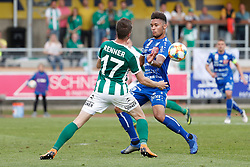 11.05.2019, Profertil Arena Hartberg, Hartberg, AUT, 1. FBL, TSV Prolactal Hartberg vs SV Mattersburg, Qualifikationsgruppe, 30. Spieltag, im Bild Rene Renner (SV Mattersburg) und Michael Blauensteiner (TSV Prolactal Hartberg) // during the tipico Bundesliga qualification group 30th round match between TSV Prolactal Hartberg and SV Mattersburg at the Profertil Arena Hartberg in Hartberg, Austria on 2019/05/11. EXPA Pictures © 2019, PhotoCredit: EXPA/ Erwin Scheriau