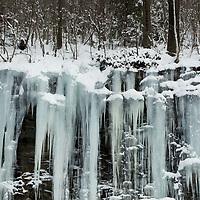 Icicles in winter, North Adams, Berkshires, Massachusetts