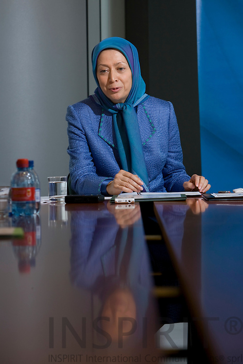BRUSSELS - BELGIUM - 28 MAY 2008 -- Maryam RAJAVI, President-Elect of the National Council of Resistance of Iran.  Photo: Erik Luntang