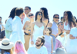 Hailey Baldwin hung out with Kendall Jenner and the rest of the Kardashian clan at Kanye West's 'Church Sunday Services' at Coachella in Indio, CA. The model said hi to her BFF and hung out for a few minutes before leaving the event. 21 Apr 2019 Pictured: Hailey Baldwin hung out with Kendall Jenner and the rest of the Kardashian clan at Kanye West's 'Church Sunday Services' at Coachella in Indio, CA. The model said hi to her BFF and hung out for a few minutes before leaving the event. Photo credit: Marksman / MEGA TheMegaAgency.com +1 888 505 6342