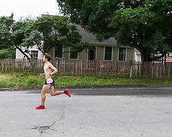 LL Bean Fourth of July 10K road race: winner Chris Harmon at mile one