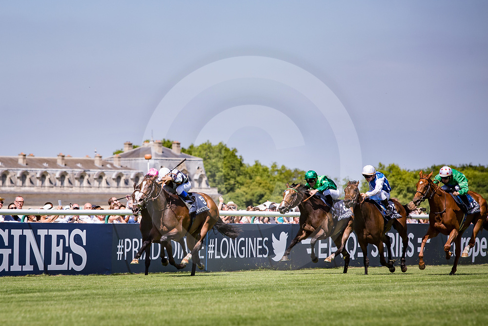 Senga (S. Pasquier) wins Gr.1 Prix de Diane Longines Chantilly, France 18/06/2017, photo: Zuzanna Lupa / Racingfotos.com