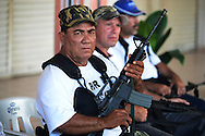 Self defense forces in the town of Pinzandaro. Local fighters now facing down the brutal Templar Knights drug cartel include farmers, loggers, ranchers and others who decided they finally had enough of years of killings, extortion and day to day humiliation.