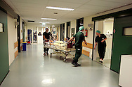 The Hague. Hospital. MCH. Medisch Centrum Haaglanden. A patient is being moved to an operating room..Photo: Gerrit de Heus