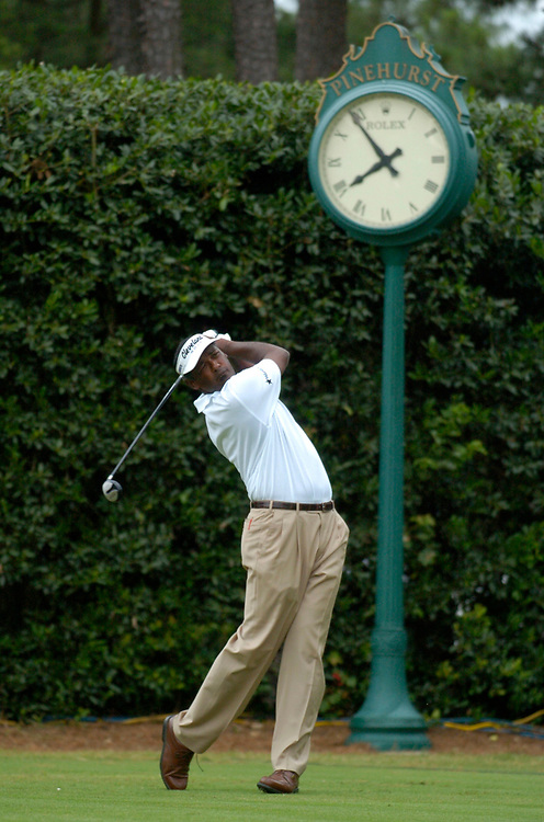 PINEHURST, NORTH CAROLINA - JUNE 17, 2005<br /> Vijay SINGH during the 2nd Round of the 2005 U.S. Open Championship, held at Pinehurst No.2 in the Village of Pinehurst, North Carolina.