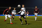 Jason Knight on the ball during the The FA Cup match between Northampton Town and Derby County at the PTS Academy Stadium, Northampton, England on 24 January 2020.