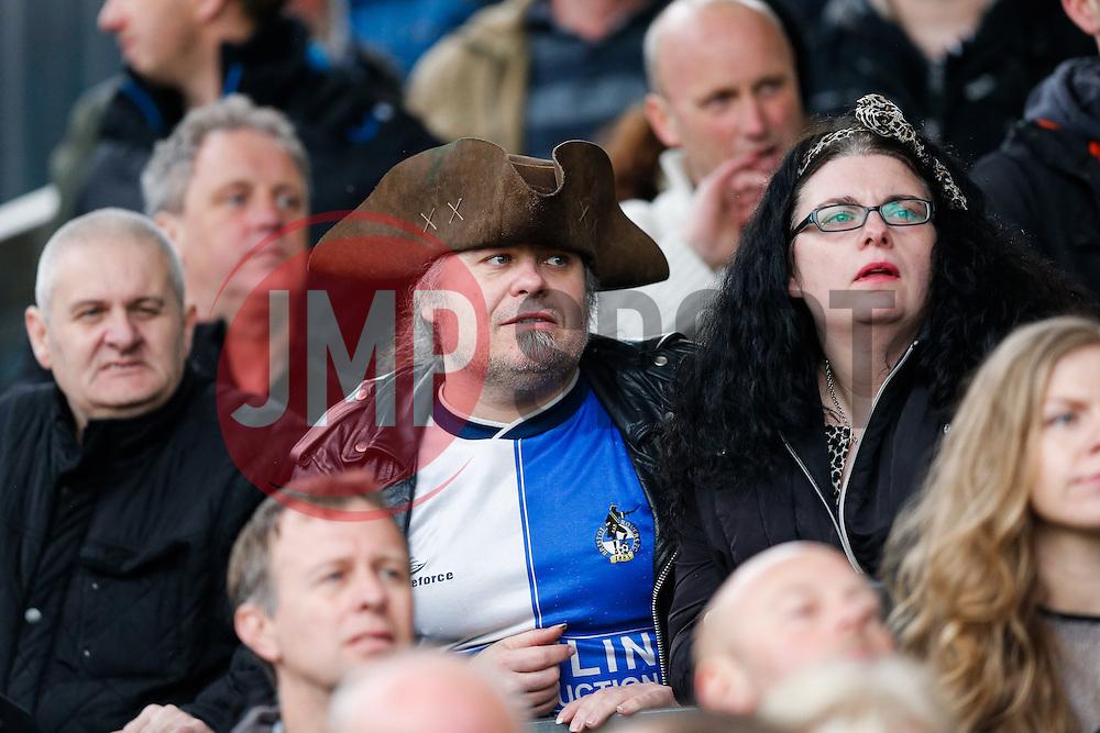 Bristol Rovers supporters - Photo mandatory by-line: Rogan Thomson/JMP - 07966 386802 - 03/04/2015 - SPORT - FOOTBALL - Bristol, England - Memorial Stadium - Bristol Rovers v Chester - Vanarama Conference Premier.