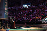 Ohio University President M. Duane Nellis speaks at the First Year Student Convocation.