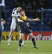 Dundee&rsquo;s James McPake and Ross County&rsquo;s Craig Curran - Ross County v Dundee, Ladbrokes Premiership at Victoria Park<br /> <br />  - &copy; David Young - www.davidyoungphoto.co.uk - email: davidyoungphoto@gmail.com