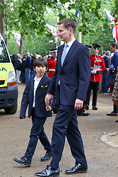 NOTE TO EDITORS :Young children are pictured © Licensed to London News Pictures. 08/06/2019. London, UK. Jeremy Hunt - Foreign Secretaryarrives with his children for Trooping the Colour ceremony to marks the 93rd birthday of Queen Elizabeth II, Britain's longest reigning monarch. Photo credit: Dinendra Haria/LNP
