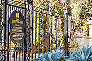 The Entrance to The Huntington Library Art Collections and Botanical Gardens in Pasadena California