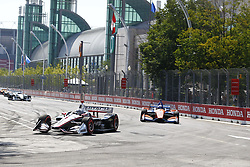 July 15, 2018 - Toronto, Ontario, Canada - JOSEF NEWGARDEN (1) of the United States battles for position during the Honda Indy Toronto at Streets of Toronto in Toronto, Ontario. (Credit Image: © Justin R. Noe Asp Inc/ASP via ZUMA Wire)