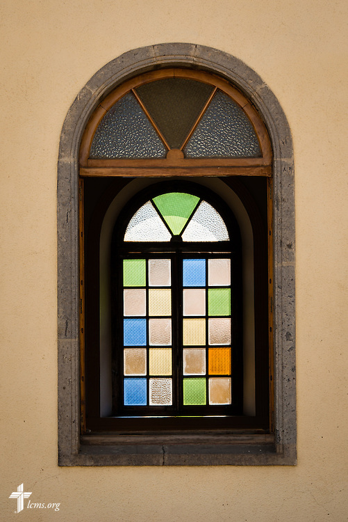 Windows of the EECMY Mother Church in Addis Ababa, Ethiopia, on Sunday, Nov. 9, 2014. LCMS Communications/Erik M. Lunsford
