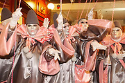 "France, Limoux, 24 March 2017. Carnaval de Limoux, night outing of the band ""Las Estelas""."