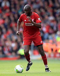 Liverpool's Djimi Traore during the Legends match at Anfield Stadium, Liverpool.