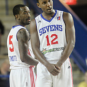 Delaware 87ers Forward SAM THOMPSON (12) walks the court in the first half of a NBA D-league regular season basketball game between the Delaware 87ers and the Raptors 905 Friday, Jan. 15, 2016. at The Bob Carpenter Sports Convocation Center in Newark, DEL.