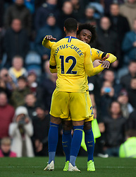 Ruben Loftus-Cheek of Chelsea (L) celebrates scoring his sides fourth goal - Mandatory by-line: Jack Phillips/JMP - 28/10/2018 - FOOTBALL - Turf Moor - Burnley, England - Burnley v Chelsea - English Premier League