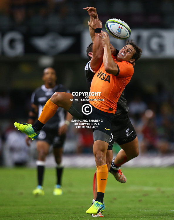 DURBAN, SOUTH AFRICA - MARCH 05: Nicolas Sanchez of the Jaguares during the 2016 Super Rugby match between Cell C Sharks and Jaguares at Growthpoint Kings Park Stadium on March 05, 2016 in Durban, South Africa. (Photo by Steve Haag/Gallo Images)