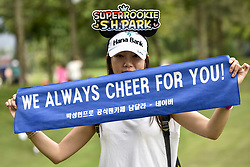 October 27, 2017 - Kuala Lumpur, Malaysia - Supporter of Sang Hyun Park of South Korea pictured during day two of the Sime Darby LPGA Malaysia at TPC Kuala Lumpur East Course on October 27, 2017 in Kuala Lumpur, Malaysia  (Credit Image: © Chris Jung/NurPhoto via ZUMA Press)