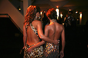 CHERYL COLE AND KIMBERLEY WALSH, The Red Cross London Ball, The Room by the River: 99 Upper Ground, Waterloo, London, SE1. 21 November 2007. -DO NOT ARCHIVE-© Copyright Photograph by Dafydd Jones. 248 Clapham Rd. London SW9 0PZ. Tel 0207 820 0771. www.dafjones.com.