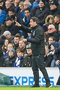 Marco Silva, Manager of Everton FC during the Premier League match between Brighton and Hove Albion and Everton at the American Express Community Stadium, Brighton and Hove, England on 26 October 2019.