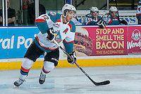 KELOWNA, CANADA - JANUARY 22: Tyrell Goulbourne #12 of the Kelowna Rockets skates against the Everett Silvertips on January 22, 2014 at Prospera Place in Kelowna, British Columbia, Canada.   (Photo by Marissa Baecker/Getty Images)  *** Local Caption *** Tyrell Goulbourne;