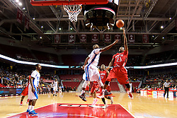 PIAA District 12 Public League Basketball Championships Final, Liacouras Center, Philadelphia, PA, USA - February 24, 2013; Imhotep's Deryl Bagwell attemps a shot. He finished the game with 15 points.